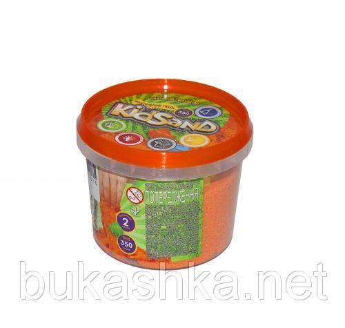 """Кинетический песок """"KidSand"""", оранжевый, 350 г"""