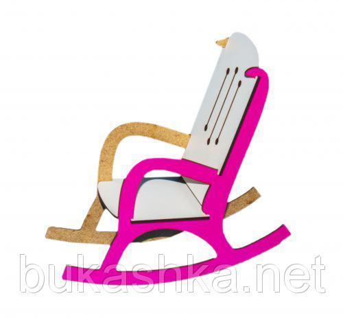 Кресло-качалка (бело-розовый)