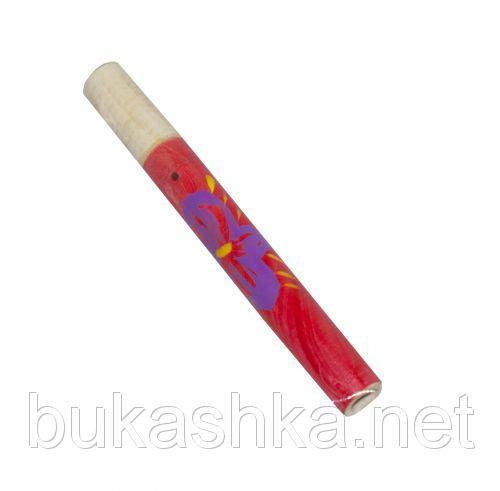 Сопилка с росписью (красная), 16 см