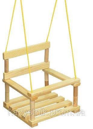 Качеля детская подвесная, деревянная