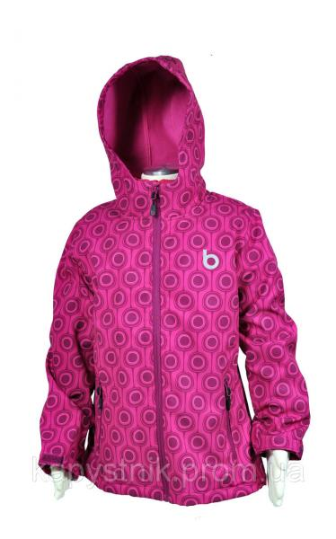 Термокуртка демисезонная Softshell на девочку р. 104-122 ТМ Pidilidi-Bugga (Чехия)