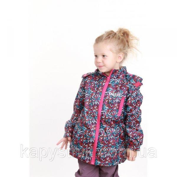 Термокуртка демисезонная ветровка на девочку р. 86-158 ТМ  ТМ Pidilidi-Bugga (Чехия)