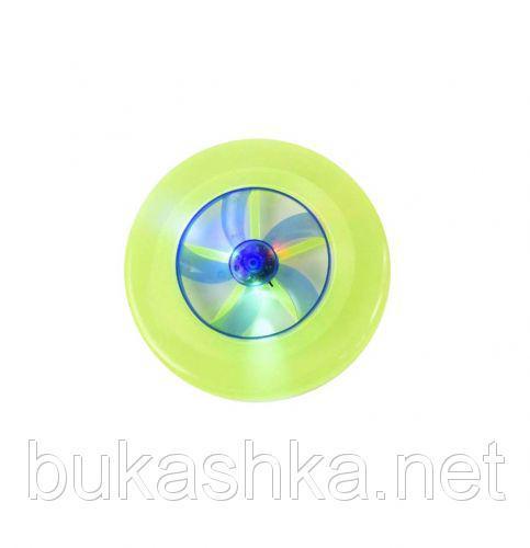 Летающая тарелка со светом (зеленая)