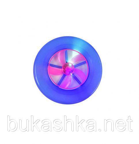 Летающая тарелка со светом (синяя)