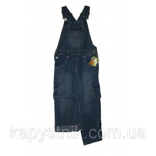 Комбинезон демисезонный джинсовый для девочек roll up р. 98-140 ТМ PIDILIDI (Чехия)