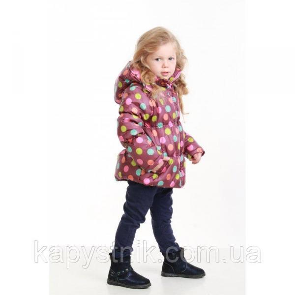 Куртка дутая демисезонная, теплая  для девочки  р. 92-128 ТМ Pidilidi-Bugga (Чехия), Pd 972-06
