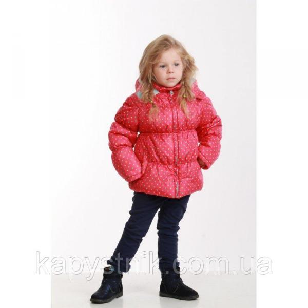 Куртка дутая демисезонная, теплая  для девочки  р. 92-128 ТМ Pidilidi-Bugga (Чехия), Pd 972-03