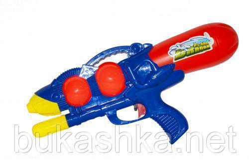 """Водяное оружие """"Flame Dragon"""" с накачкой (синее)"""