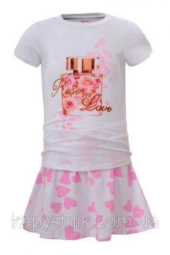 Комплект для девочки Glo-Story: GLT-4087 Бел+Роз