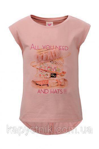 Детская футболка для девочки Glo-Story: GPO-1190 Персик