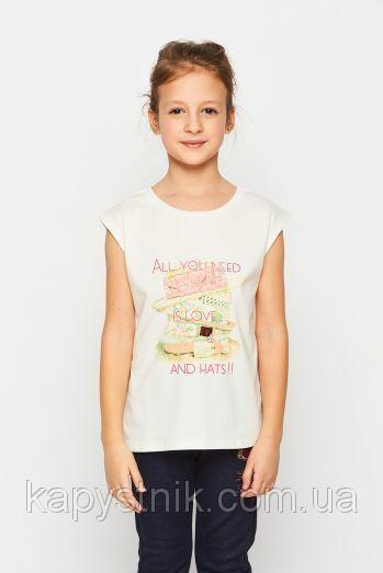 Детская футболка для девочки Glo-Story: GPO-1190 Белый