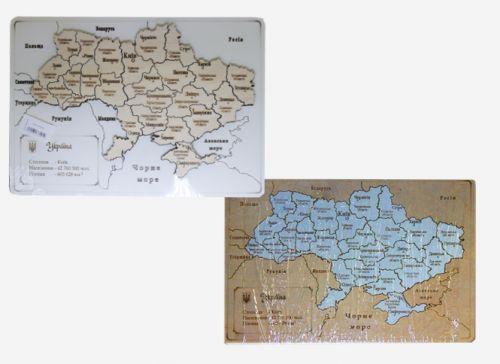Деревянная карта Украины