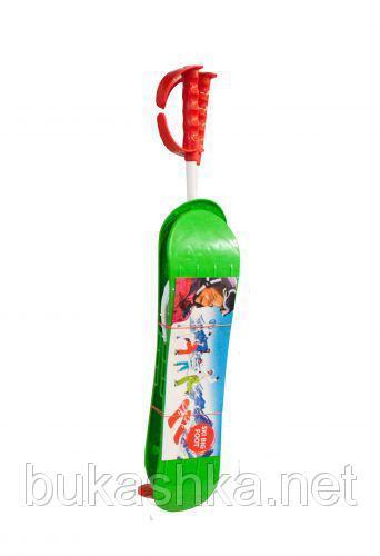 """Лыжи  зеленые """"Big foot"""" арт. BIGFG"""