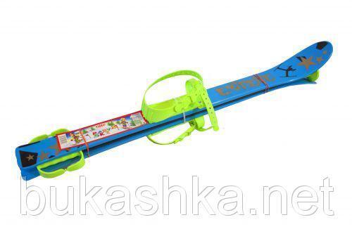 Лыжи (90см)  синие с рисунком арт. L90B