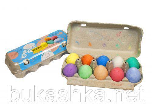 """Набор мелков """"Лоток  яиц: """"Бубіда"""" (10 шт)"""