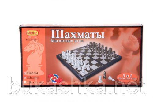Магнитная игра 3 в 1 (шахматы, шашки, нарды)