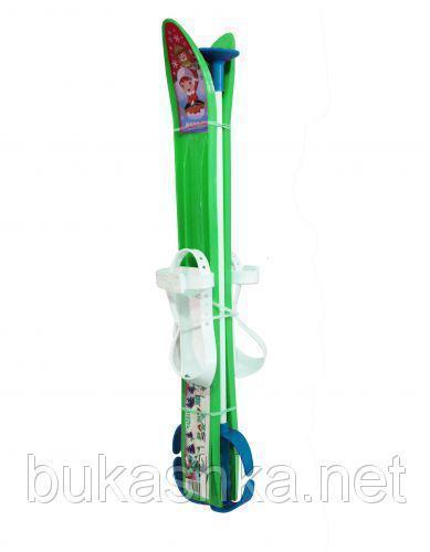 Лыжи 60см зеленые арт. L60G