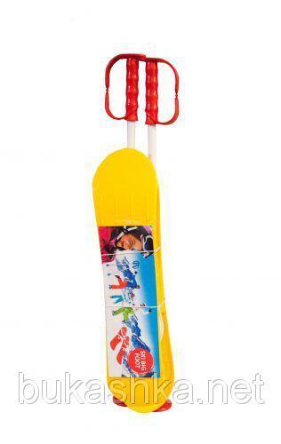 "Лыжи  желтые ""Big foot"" арт. BIGFY"