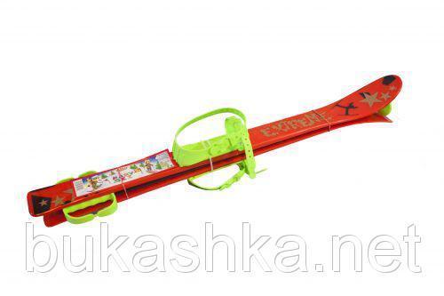 Лыжи (90см) красные с рисунком арт. L90R
