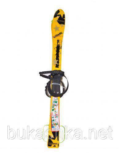 Лыжи (90см) желтые с рисунком арт. L90Y