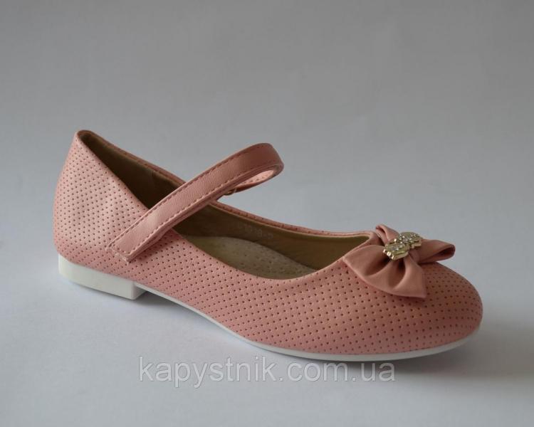 Туфли для девочки р.29-36 ТМ LILIN C1018-2 нежно розовый