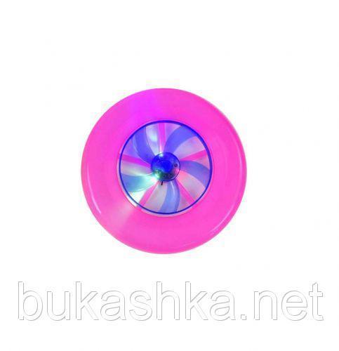 Летающая тарелка со светом (розовая)