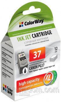 Картридж ColorWay Canon PG37 Black