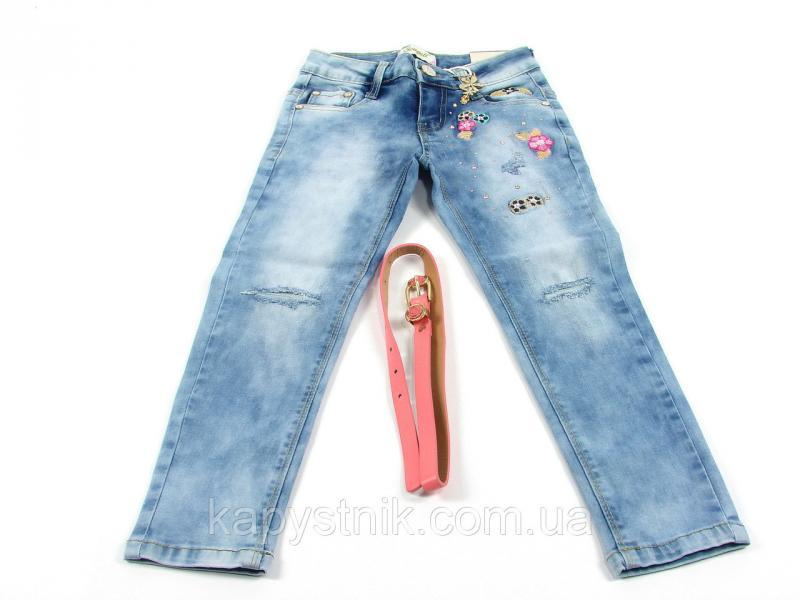 Джинсовые брюки для девочки р.122-146 CSQ-89777