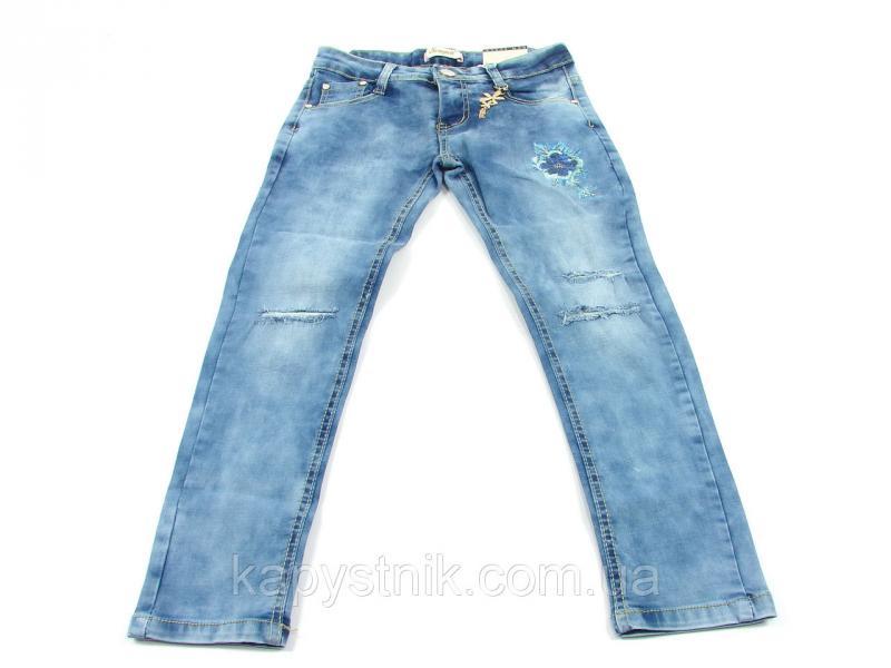 Джинсовые брюки для девочки р.134-164: CSQ-89789
