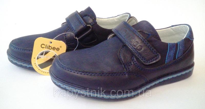 Туфли, мокасины для мальчика р.26-31 ТМ Clibee P113 blue 26
