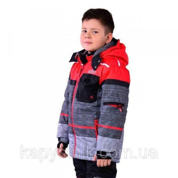 Зимняя термокуртка Ski tour для мальчика р.98-158 ТМ Pidilidi-Bugga (Чехия)