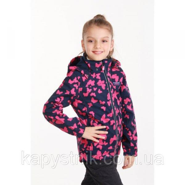 Термокуртка демисезонная ветровка для девочки р.98-158 ТМ Pidilidi-Bugga (Чехия)