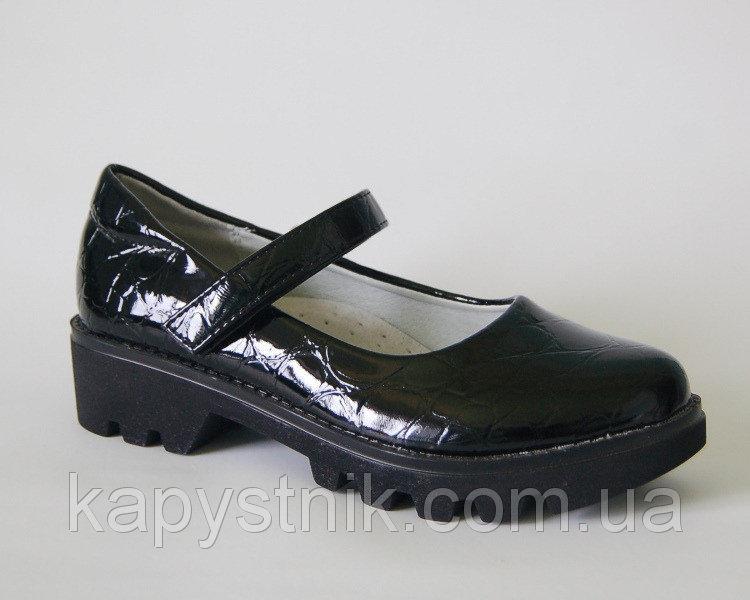 Туфли для девочки р.32-37 ТМ Солнце Kimbo-o: XL20-7 black