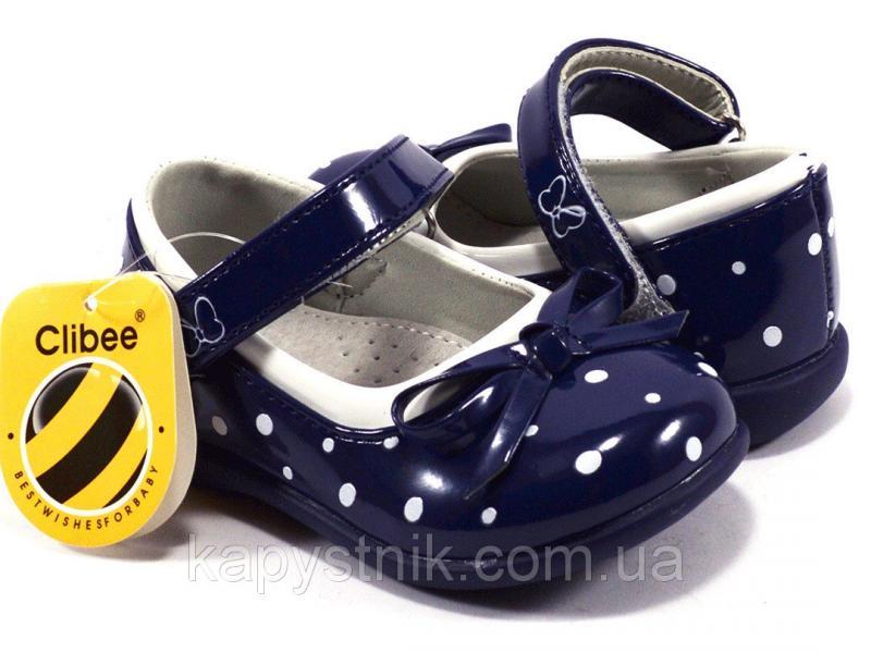 Туфли для маленькой принцессы р.20-25 ТМ Clibee, код D-602Blue