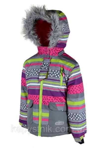 Зимняя термокуртка Ski tour для девочки р.98-158 ТМ Pidilidi-Bugga (Чехия)