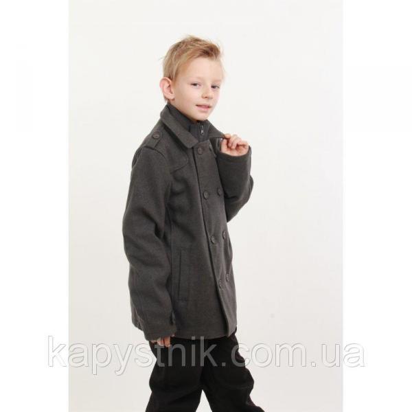 Пальто для мальчика р.128-158  ТМ Minoti (Англия) серое