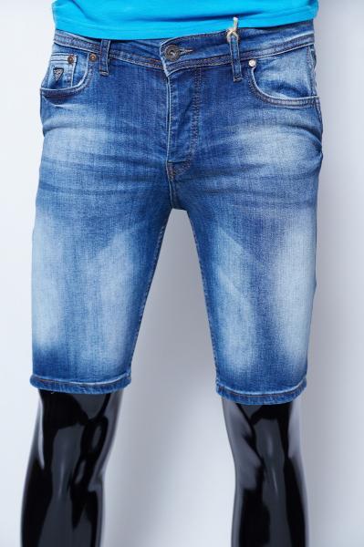 Шорты мужские джинсовые Guess 9962 синие реплика