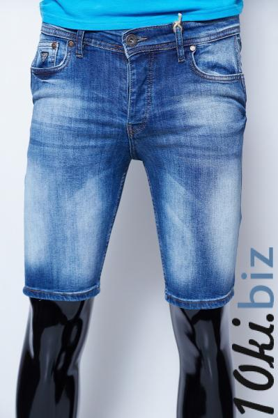 Шорты мужские джинсовые Guess 9962 синие реплика Капри бриджи шорты мужские в Украине