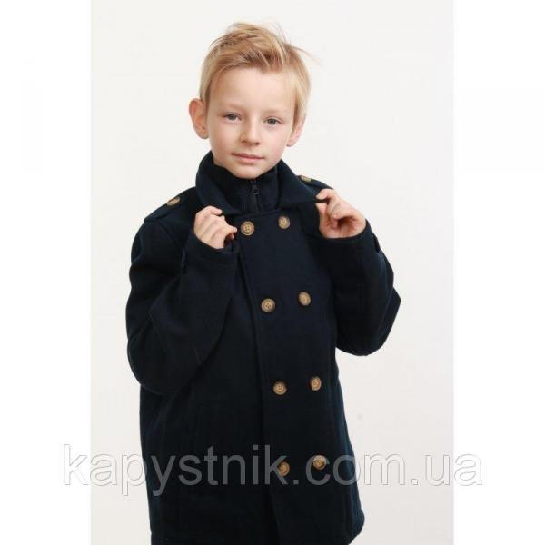 Пальто для мальчика р.128-158  ТМ Minoti (Англия) темно-синее