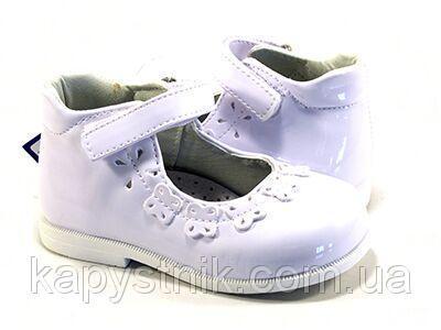 Туфли для маленькой принцессы р.19-24 ТМ Apawwa, код H854 белые 19