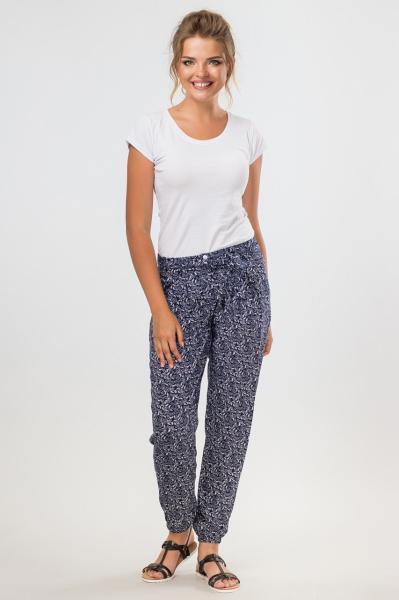 Темно-синие летние брюки