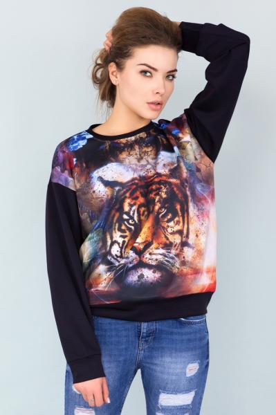 Оверсайз свитшот Тигр