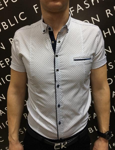 Рубашка мужская короткий рукав PS 88985_1 белая
