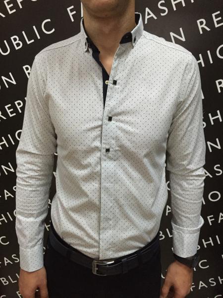 Рубашка мужская PS 121711966 светлый беж