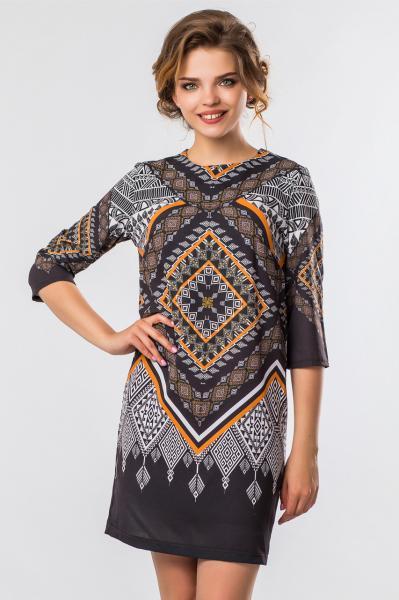 Платье Узор на черном