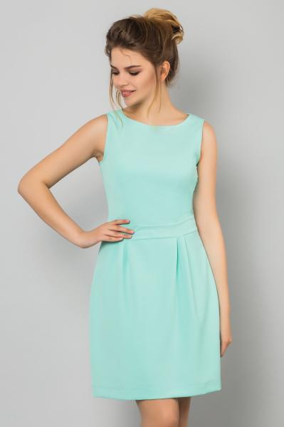 Мятное платье без рукавов
