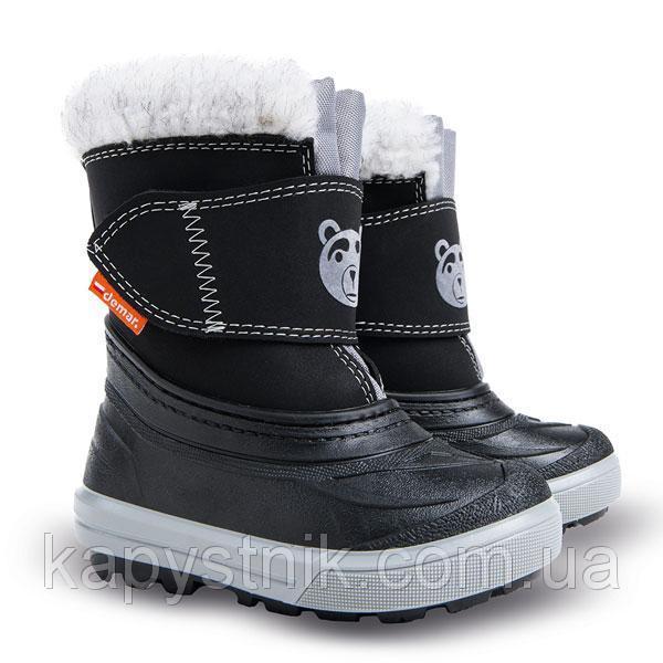 Зимние сноубутсы, сапоги Demar BEAR C для девочки р.20-29 ТМ Demar (Польша) черный