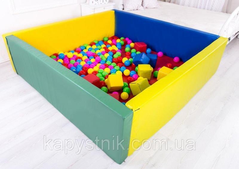 Сухой бассейн с матом 200-200-40 см ТМ Тia-sport Тиа-Спорт: sm-0205 (Украина)