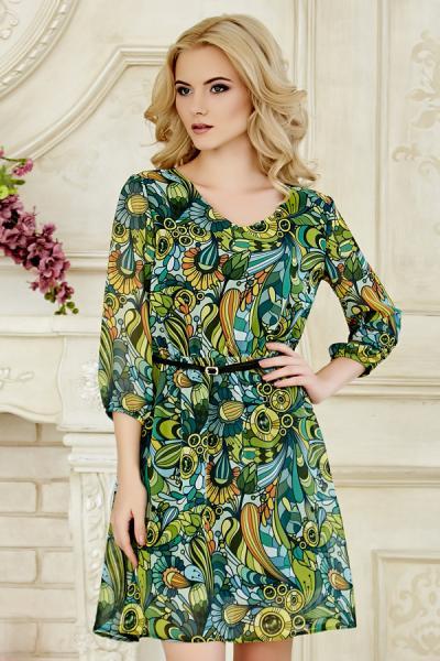 Платье с узорами цветов