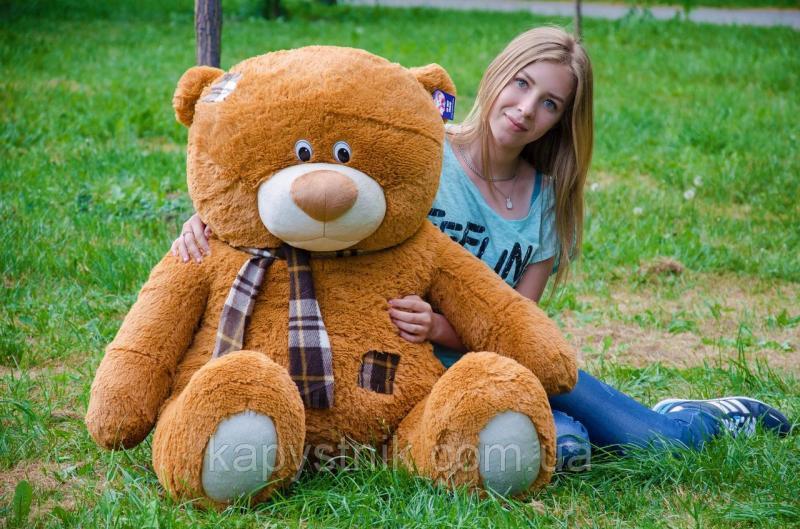 Большой плюшевый мишка Тедди размер 140см ТМ My Best Friend (Украина) много расцветок коричневый